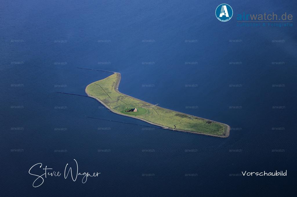 Luftbild Hallig Habel - auf der kleinsten nordfrisischen Hallig sind Besucher leider unerwünscht. | Nordsee, Hallig Habel, Luftbild, Luftaufnahme, aerophoto, Luftbildfotografie, Luftbilder • max. 6240 x 4160 pix