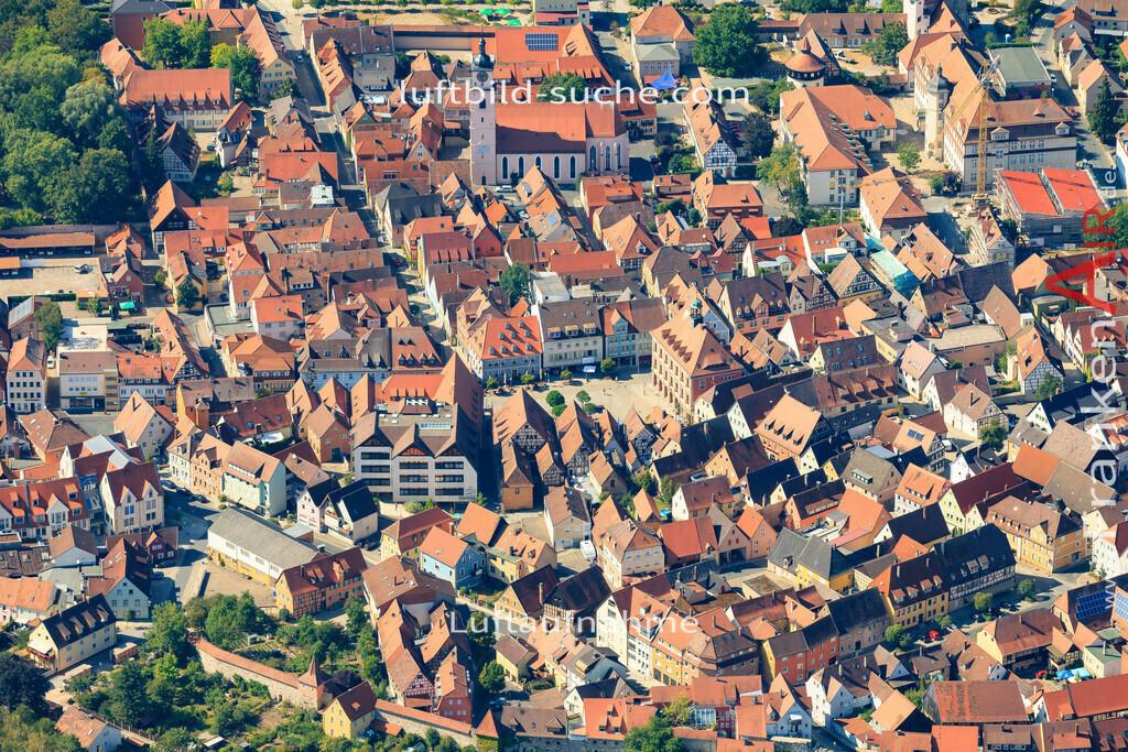 altstadt-neustadt-an-der-aisch-2015-1554 | Luftbild von Altstadt Neustadt-an-der-aisch - Luftaufnahme wurde 2015 von https://frankenair.de mittels Flugzeug (keine Drohne) erstellt - die Geschenkidee