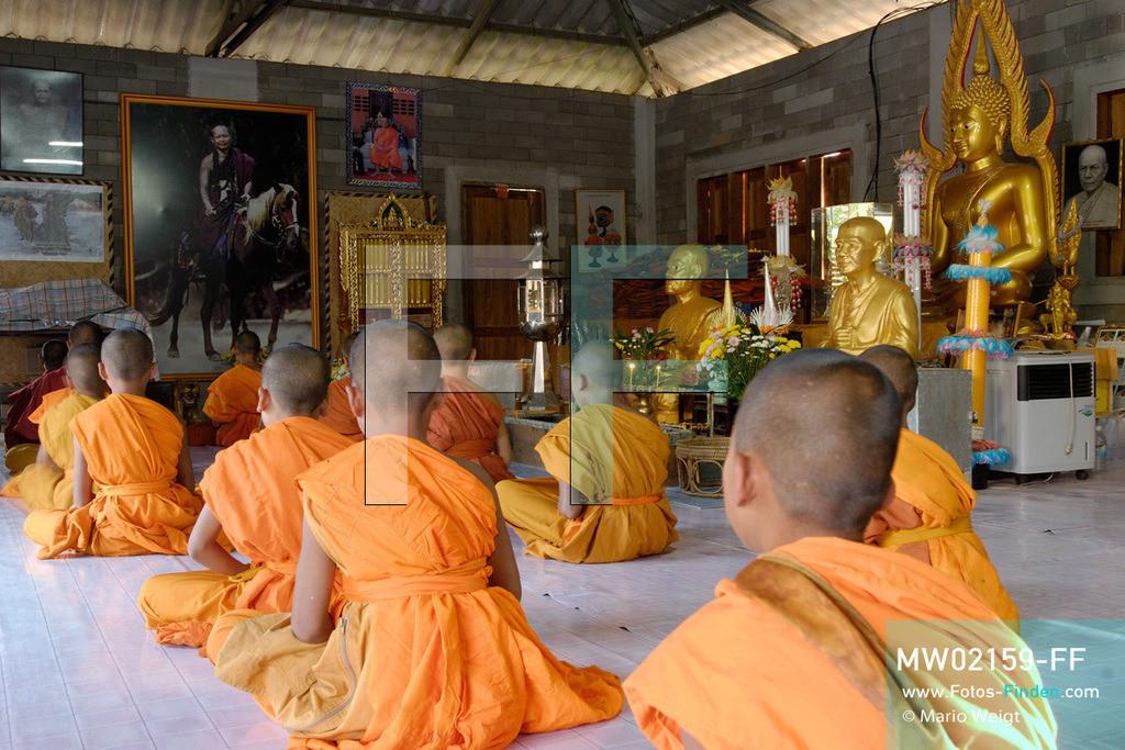 MW02159-FF | Thailand | Goldenes Dreieck | Reportage: Buddhas Ranch im Dschungel | Abendgebet im Tempel Sala Kong Thaptham  ** Feindaten bitte anfragen bei Mario Weigt Photography, info@asia-stories.com **