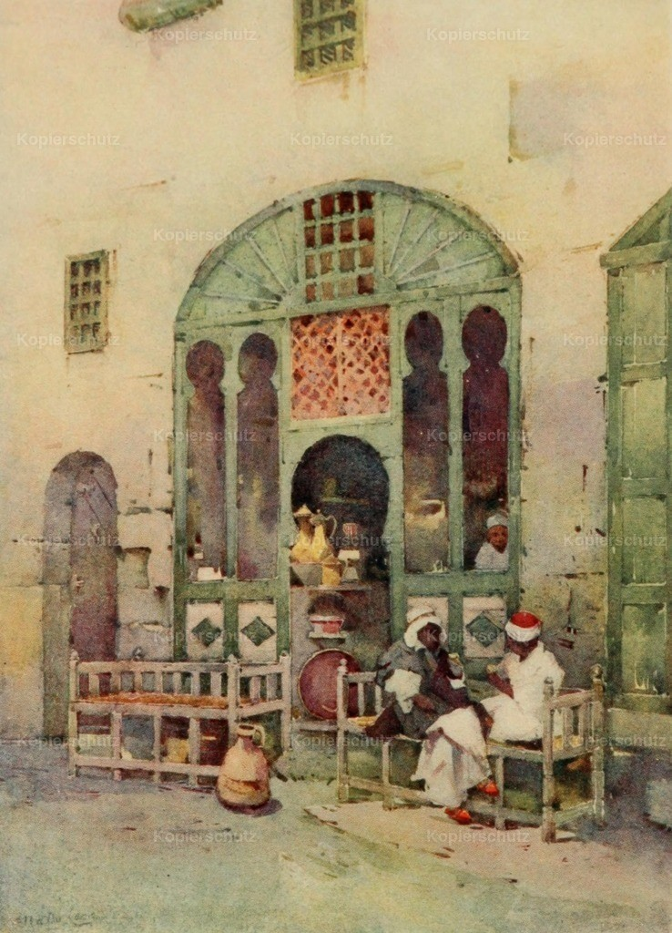 Cane_ Ella du (1874-1943) - Banks of the Nile 1913 - An Arab cafe in Cairo