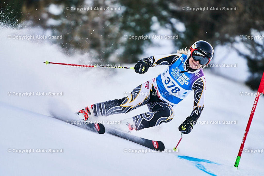 ALS5571_WWMG_GS-II_C | (C) FotoLois.com, Alois Spandl, WinterWorldMastersGames 2020 Innsbruck, Giant Slalom-II Gruppe C Damen, Patscherkofel Olympiaabfahrt, Mi 15. Jänner 2020.