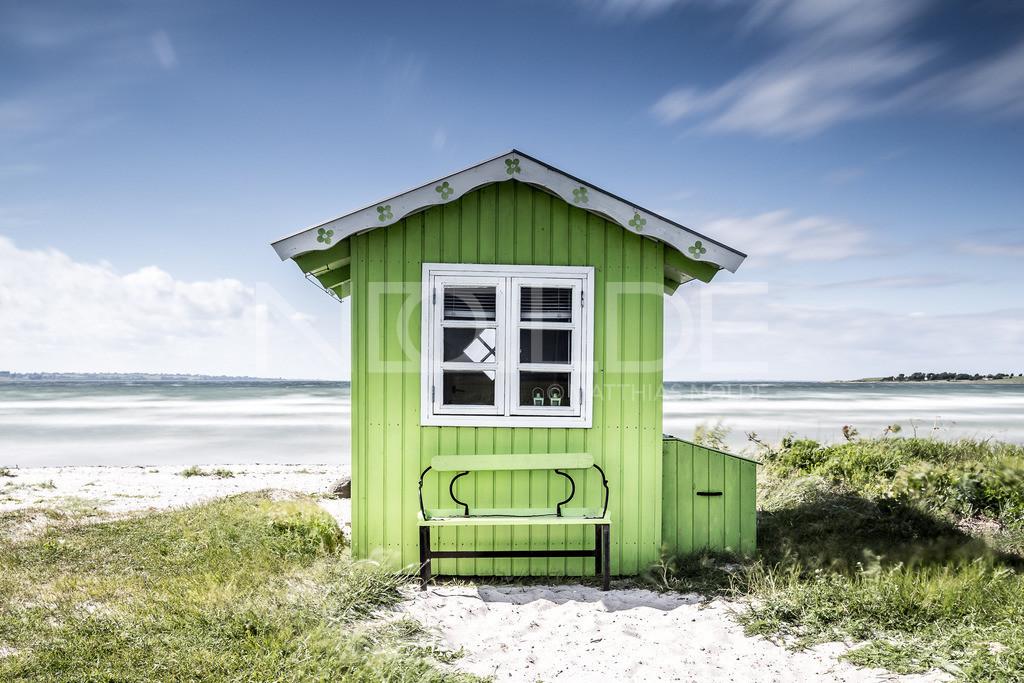 Aerö Strand | Badehäuschen auf der dänischen Insel Aerö