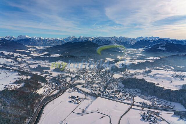 luftbild-siegsdorf-bruno-kapeller-04 | Luftaufnahme von Siegsdorf im Winter 2019