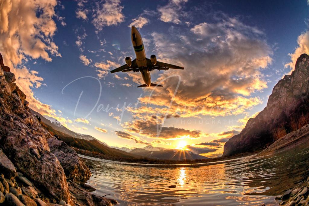 Transavia | Boeing 737 beim Anflug auf Innsbruck