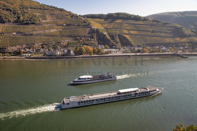 Excursion boats on the Rhine | Excursion boats on the Rhine in Germany