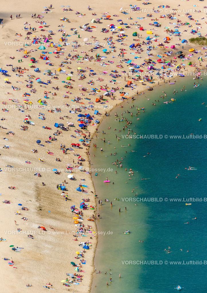 Haltern13081730   Silbersee II aus der Luft, Sandstrand und türkisfarbenes Wasser, Luftbild von Haltern am See