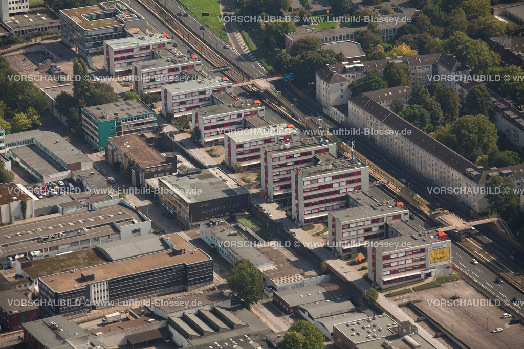 ES10095583 | Luftbild, ETEC Essen an der A40, Technologiezentrum Essen,  Essen, Ruhrgebiet, Nordrhein-Westfalen, Germany, Europa, Foto: hans@blossey.eu, 11.09.2010