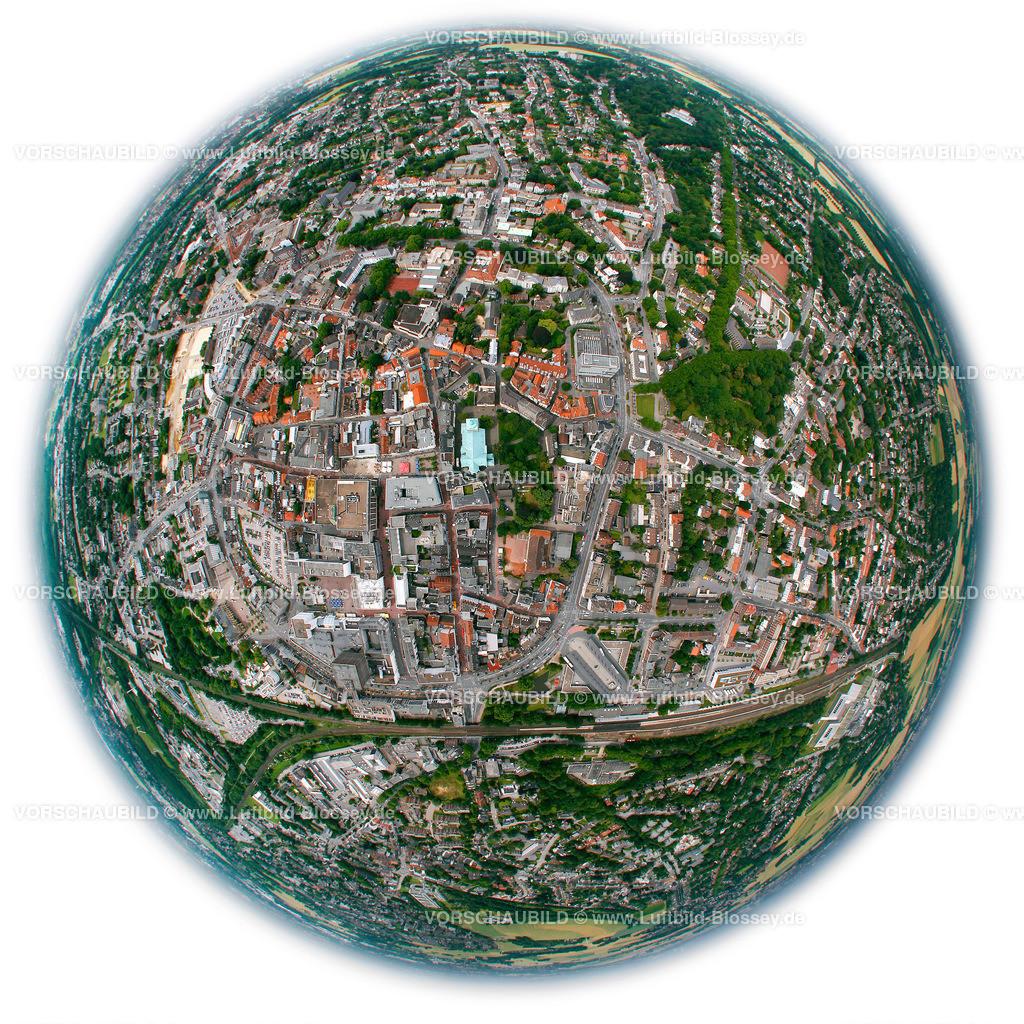 RE11070373b (2) | Stadtmitte, Zentrum , Fisheye, Markt, Rathaus, Stadtring, Wall,  Recklinghausen, Ruhrgebiet, Nordrhein-Westfalen, Germany, Europa