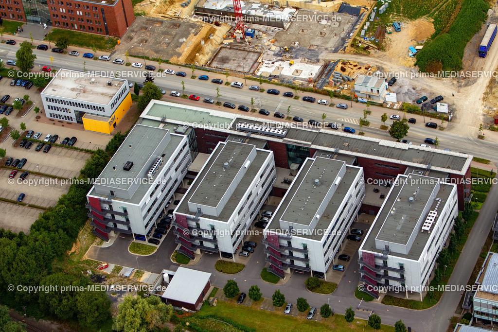 2012-08-28 Fotoflug Dortmund | Luftbildflug Dienstag, 28. August 2012 Deutschland, Nordrhein-Westfalen, Dortmund, Dorstfeld, Technologiepark, Biomedizinzentrum. Foto: Michael Printz / PHOTOZEPPELIN.COM