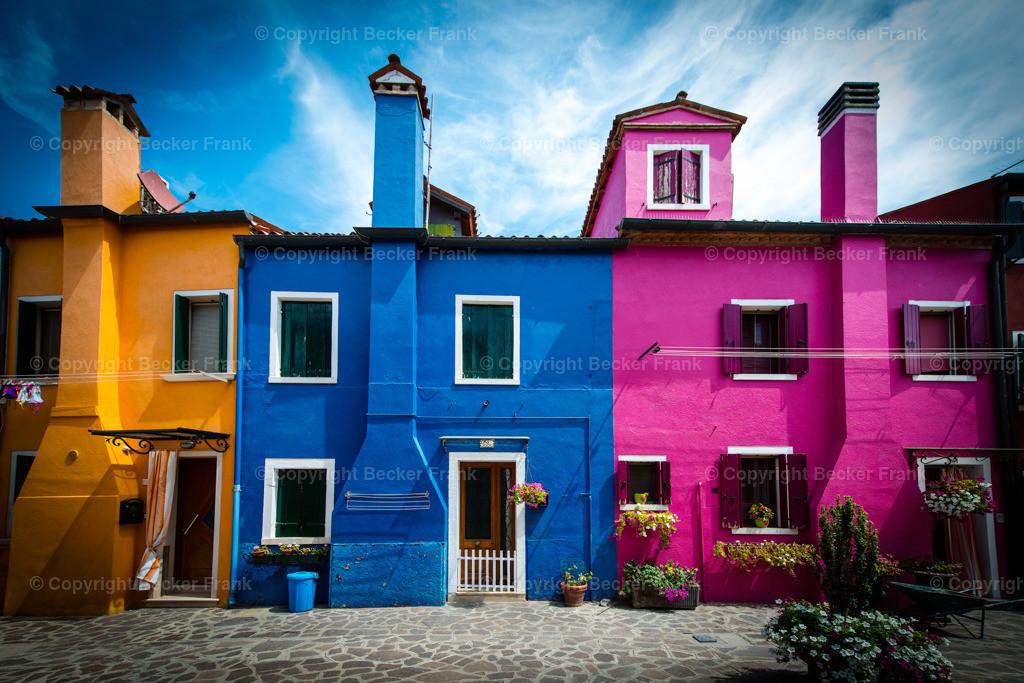 Bunte Häuser in Burano