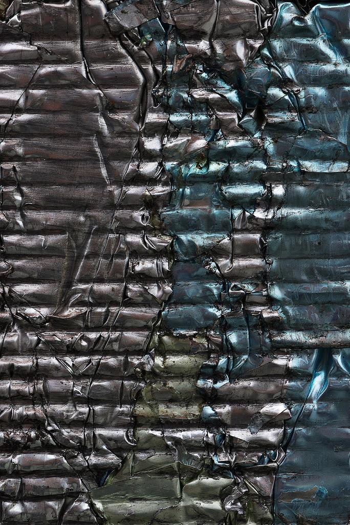 Aluminum foil, anodized 2 | gepresste Aluminium Folie, blank, blau