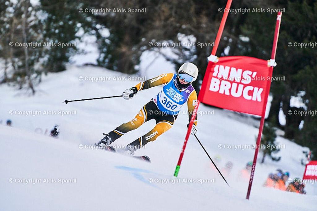 ALS5444_WWMG_GS-II_C | (C) FotoLois.com, Alois Spandl, WinterWorldMastersGames 2020 Innsbruck, Giant Slalom-II Gruppe C Damen, Patscherkofel Olympiaabfahrt, Mi 15. Jänner 2020.