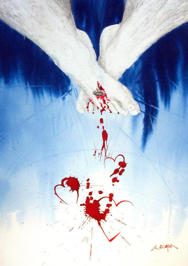 Liebe bis aufs Blut | Liebe bis aufs Blut, ein Geheimnis, wer kann es ausreichend erklären? Gibt es dafür Worte? ... es scheint die große Sprache der Liebe zu sein, die nur das Herz versteht.