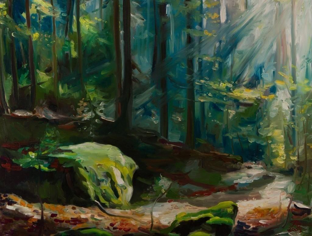 Im Wald | Originalformat: 60x75cm  -   Produktionsjahr: 2003
