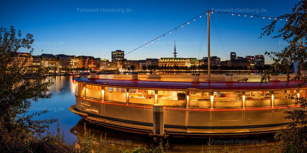10200905 - Schiffsrestaurant an der Alster | Blick auf das beliebte Schiffsrestaurant