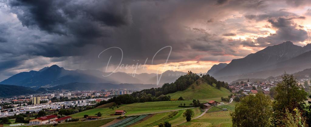 Gewitterstimmung | Panorama einer Gewitterstimmung über Innsbruck