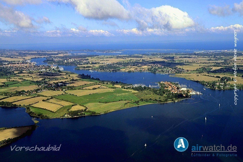 Luftbild Arnis, Schlei, Ostseefjord, Sportboothafen, Bootswerft | Arnis, Sportboothafen, Bootswerft • max. 6240 x 4160 pix