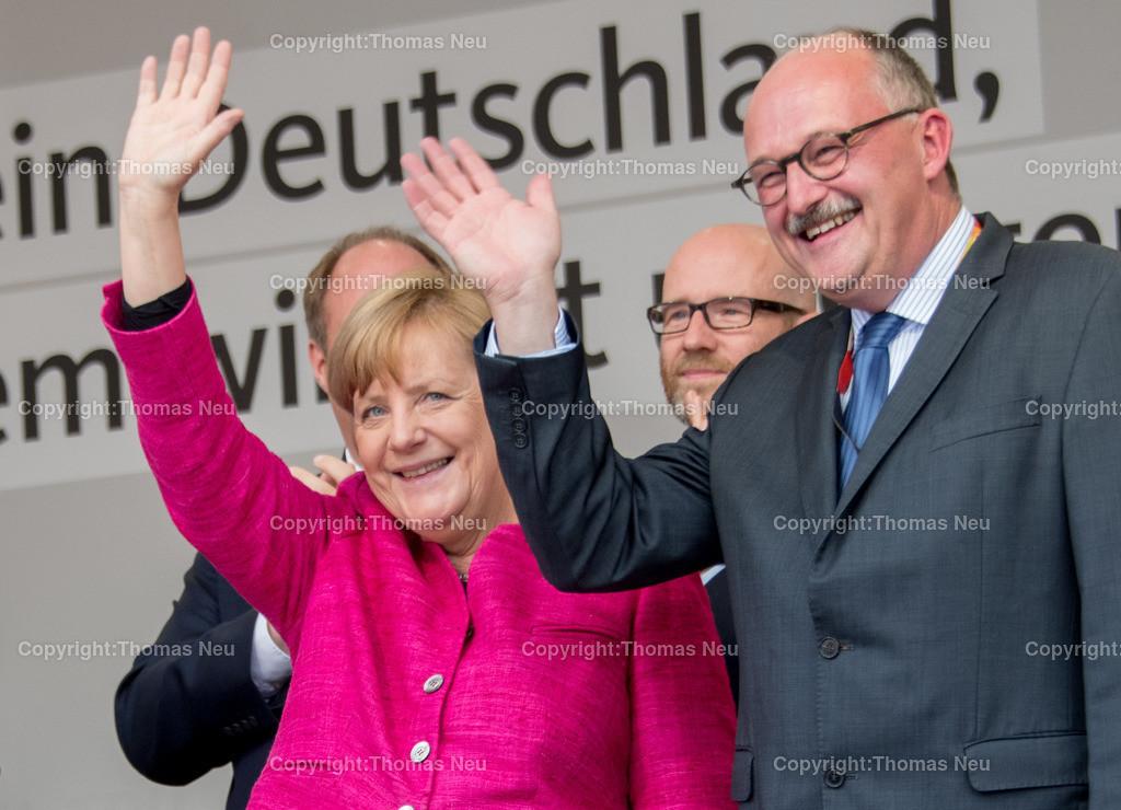DSC_7877-2 | Heppenheim, Wahlveranstaltung, CDU, Angela Merkel auf dem parkhof,Michael meister, ,, Bild: Thomas Neu