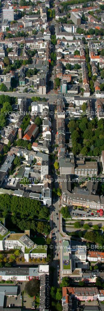 ES10094215a | Ruettenscheider Strasse, Luftbild,  Essen, Ruhrgebiet, Nordrhein-Westfalen, Germany, Europa, Foto: hans@blossey.eu, 05.09.2010