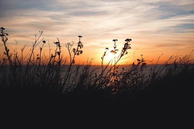 Calm Your Soul   Sonnenuntergang bei Voderup Klint auf der dänischen Südsee Insel Aeroe
