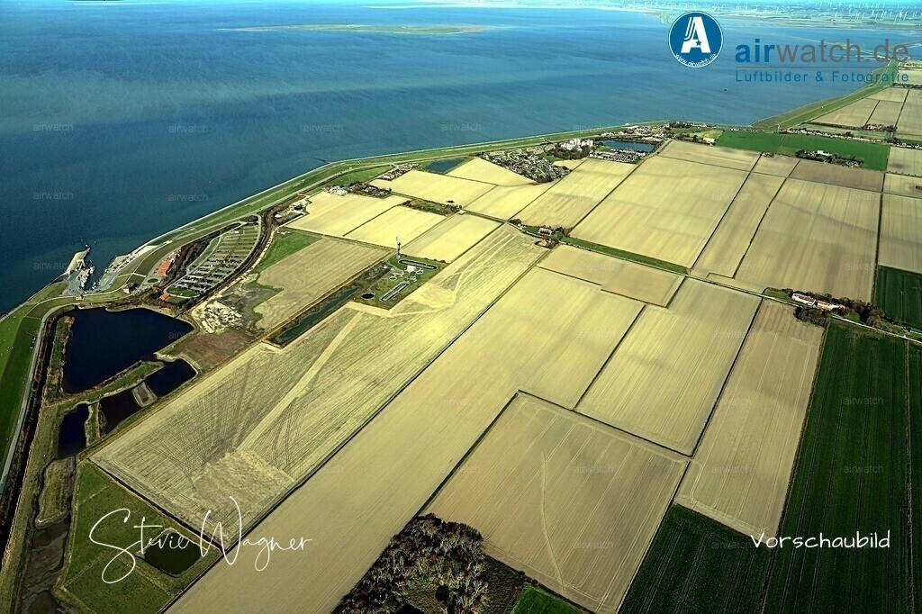 Luftbild Nordseeheilbad Nordstrand, Hafen Strucklahnungshoern, Faehranleger, Alterkoogchaussee, Mitteldeich | Nordsee, Nordstrand, Hafen Strucklahnungshoern • max. 6240 x 4160 pix -