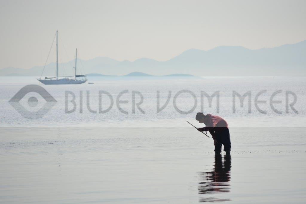 Bilder vom Meer   Fischer und Schiff im Mar Menor