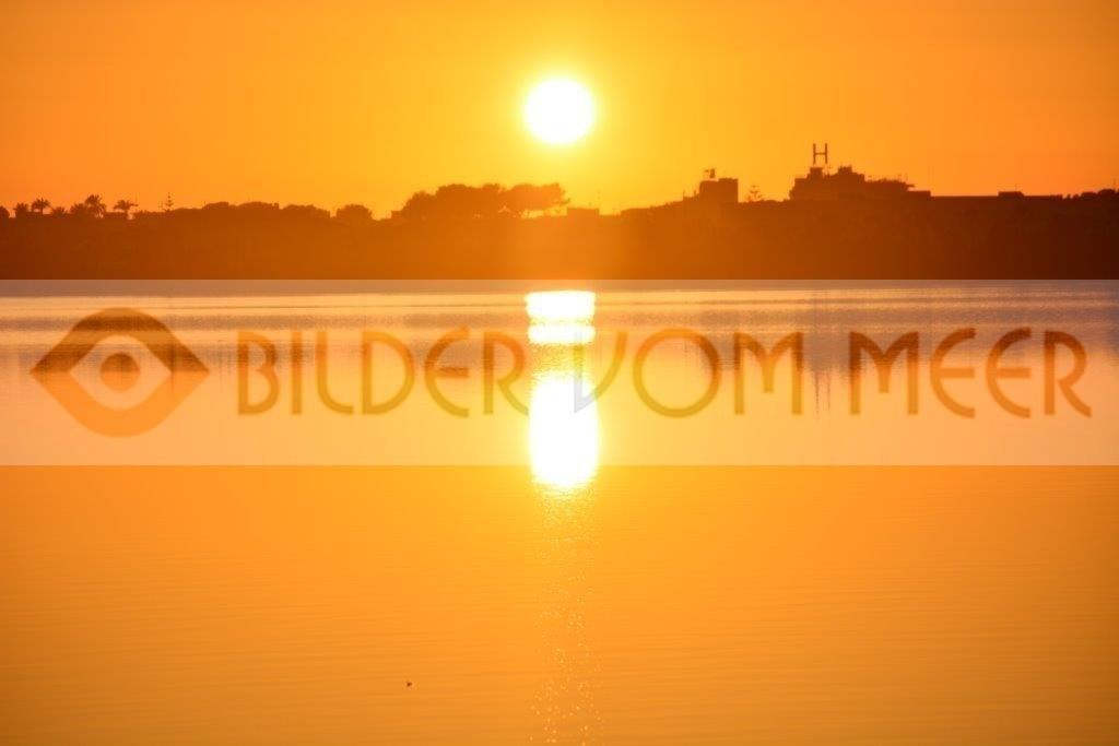 Bilder Sonnenuntergang an der Lagune | Sonnenuntergang San Pedro del Pinatar