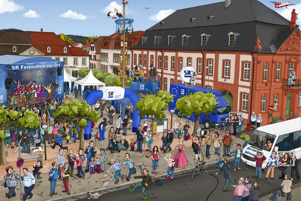 Wimmelbild-Blieskastel-Paradeplatz-schanz-partner