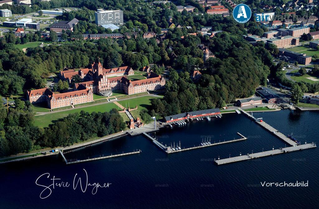Luftbild Flensburger Foerde, Marineschule Muerwik, Bundesmarine | Luftbild Flensburger Foerde, Marineschule Muerwik, Bundesmarine • max. 6240 x 4160 pix