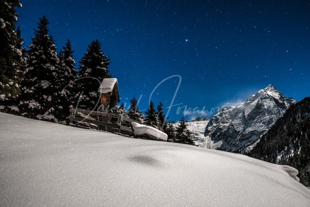 Lüsens | Vollmondnacht im tief winterlichen Lüsenstal