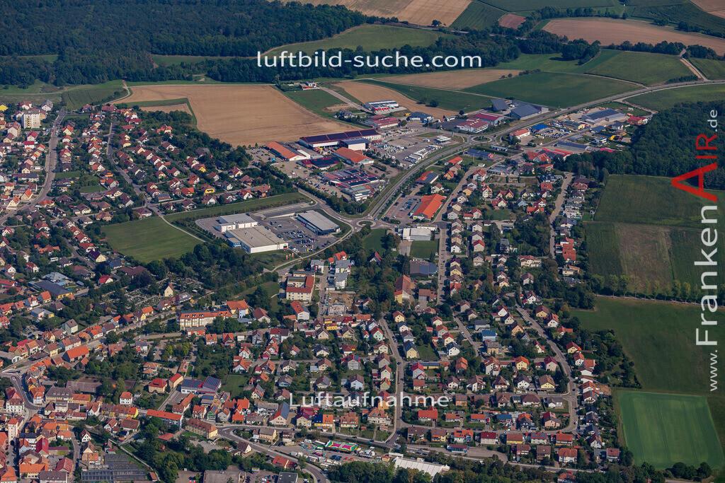 uffenheim-19-731 | aktuelles Luftbild von  Uffenheim - Luftaufnahme wurde 2019 von https://frankenair.de mittels Flugzeug (keine Drohne) erstellt.
