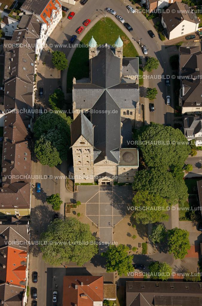 RE11046328 | Paulusstrasse, Pauluskirche, ehemalige Kollegschule,  Recklinghausen, Ruhrgebiet, Nordrhein-Westfalen, Germany, Europa