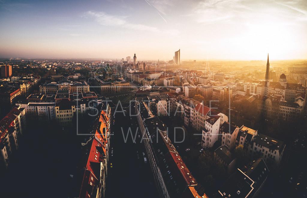 Leipzig Panorama Abendsonne | Ein Blick über Leipzig, lässt dich diese Stadt lieben.