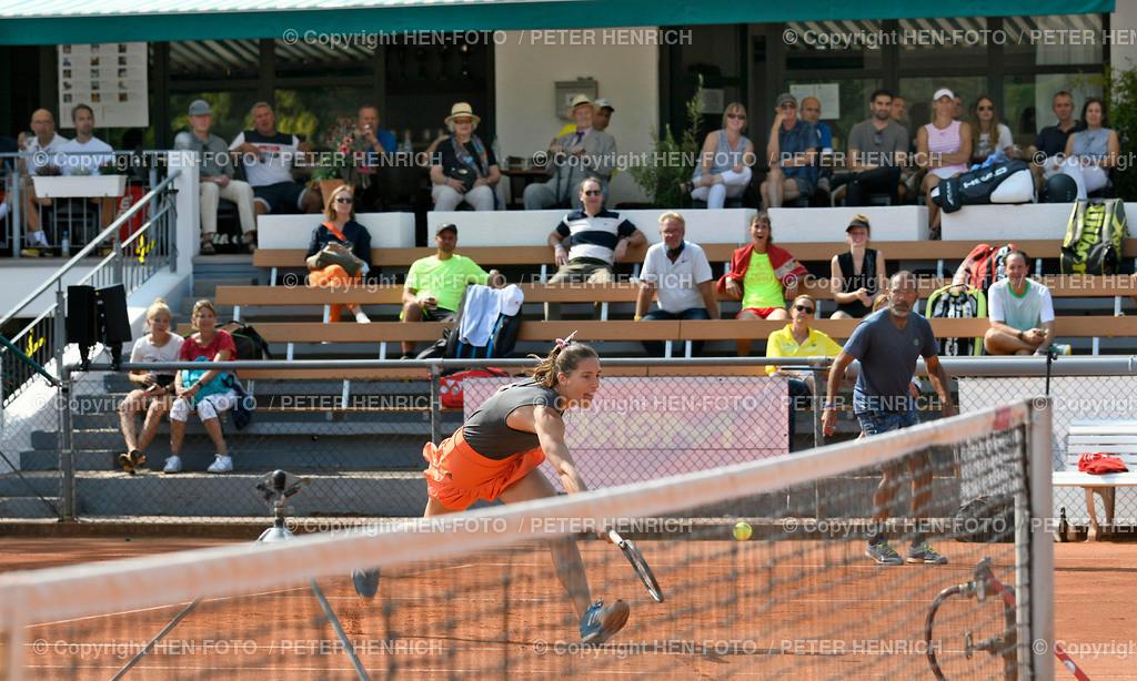 Tennis Charity Trophy TEC Darmstadt 20200912 copyright by HEN-FOTO   Tennis Charity Trophy TEC Darmstadt 20200912 DUMUSSTKÄMPFEN Doppel Andrea Petkovic u Karsten Braasch copyright by HEN-FOTO / Foto: Peter Henrich