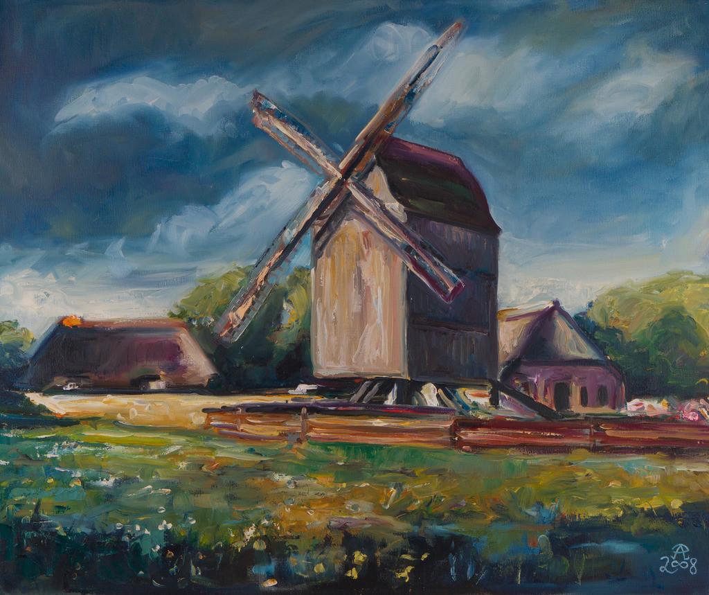 Windmühle an der See | Originalformat: 50x60  -   Produktionsjahr: 2008