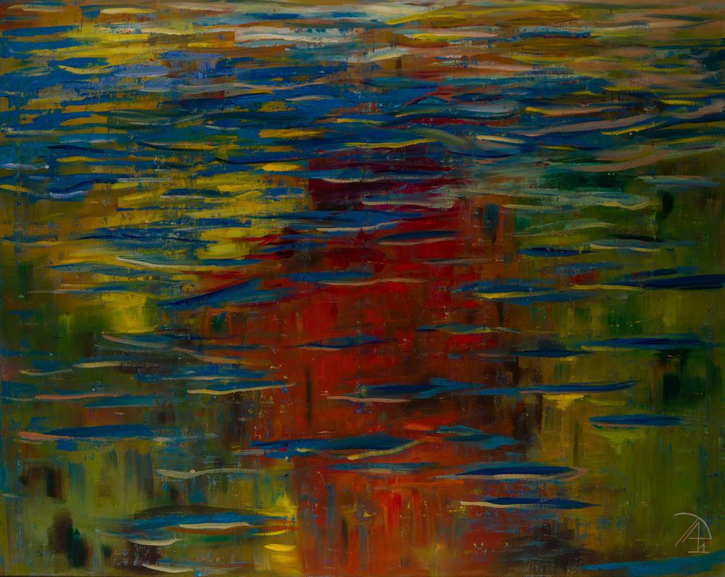Der Himmel auf dem See | Originalformat: 80x100cm  -  Produktionsjahr: 2011