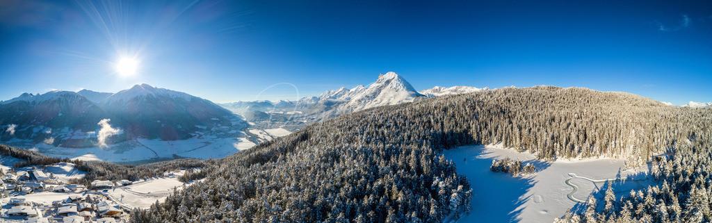 Winter Wonderland   Panorama von Mösern, Hoher Munde und Inntal