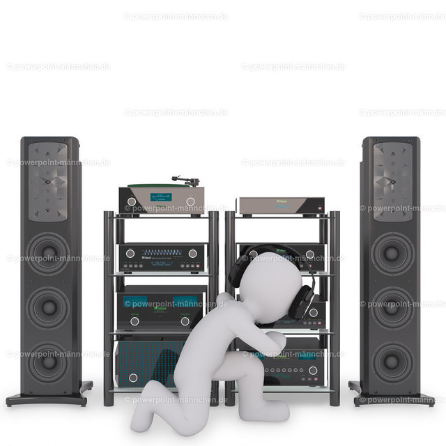 man preparing his musicbox at home | Quelle: https://3dman.eu   Jetzt 250 Bilder kostenlos sichern