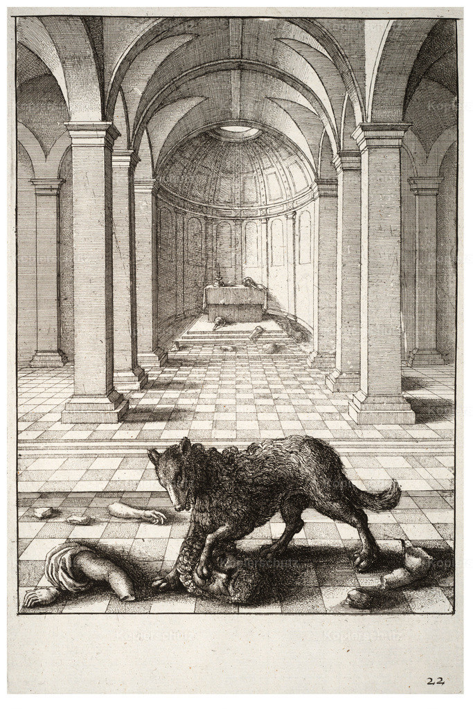 Wenceslas_Hollar_-_The_wolf_and_the_statue_2