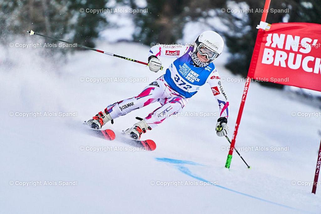 ALS5515_WWMG_GS-II_C | (C) FotoLois.com, Alois Spandl, WinterWorldMastersGames 2020 Innsbruck, Giant Slalom-II Gruppe C Damen, Patscherkofel Olympiaabfahrt, Mi 15. Jänner 2020.