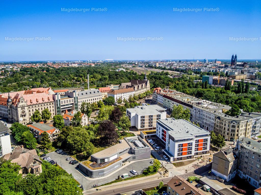 Magdeburg Leipziger Straße-0027 | Luftbilder aus der Vogelperspektive von MAGDEBURG ... mit Drohne oder von oben fotografiert für die Bilddatenbank der Luftbildfotografie von Sachsen - Anhalt.