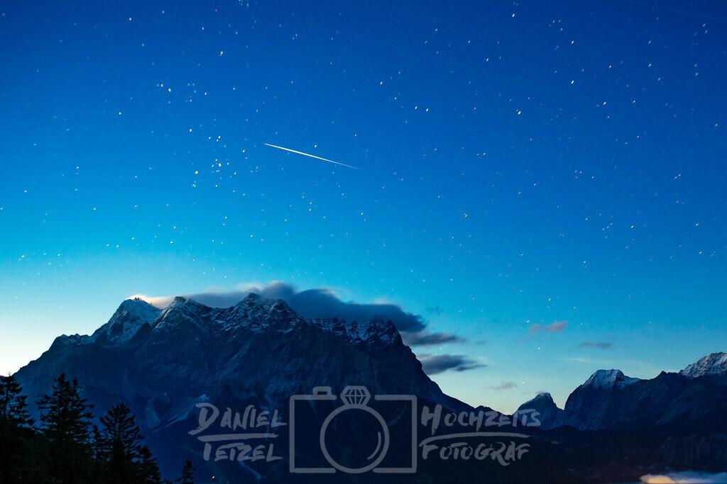 Blick auf die Zugspitze | Zugspitze in der Nacht
