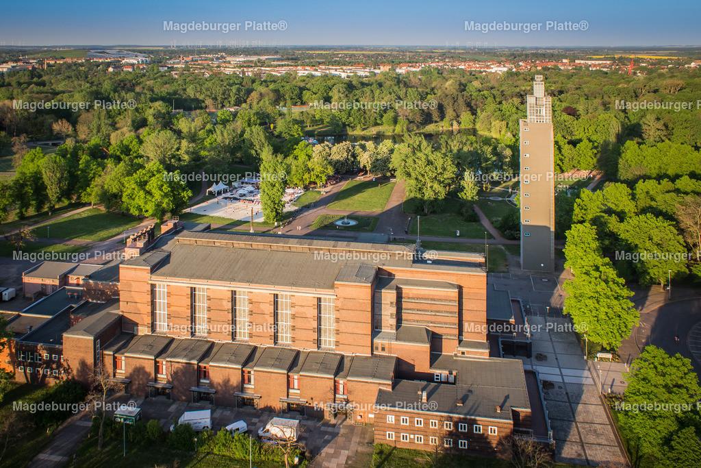 Luftbild Magdeburg Stadthalle Turm-6891