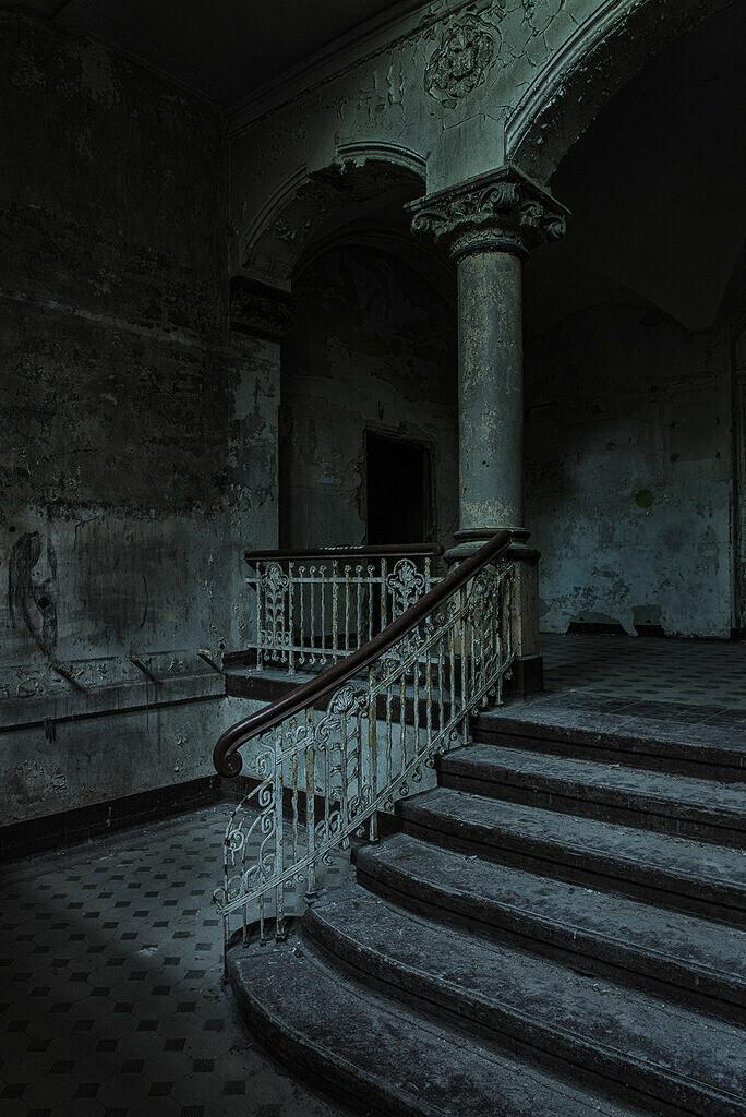 Treppenhaus | Treppenhaus in den Beelitz Heilstätten