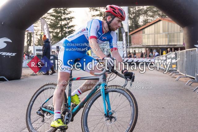 Radsport, Stevens Cyclocross Cup 2019, 10. Lauf (RSG Nordheide), Rennen 9 (Elite Herren + U23, Masters 2 / Elite Ü40 und Junioren U19), Buchholz i.d.N., 19.01.2020   Tim Rieckmann (RG Wedel, #7, Elite)