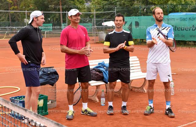 Tennis Benefiz Veranstaltung beim TEC Darmstadt 20190907 copyright by HEN-FOTO   Tennis Benefiz Veranstaltung beim TEC Darmstadt 20190907 v li Schüttler, Almarez, Phau, Pütz copyright by HEN-FOTO Foto: Peter Henrich