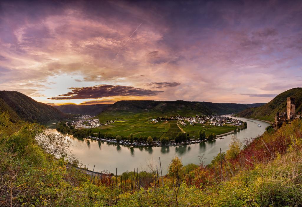 Sonnenuntergang an der Moselschleife 2