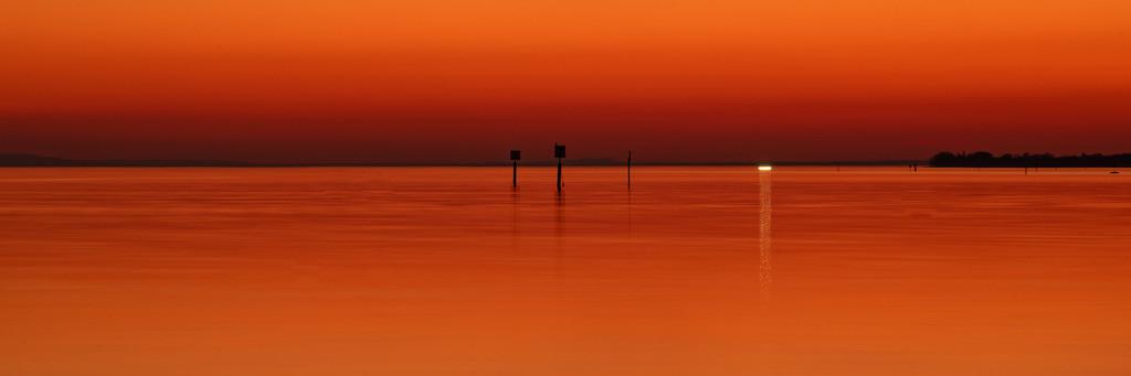 sundown über dem Bodensee