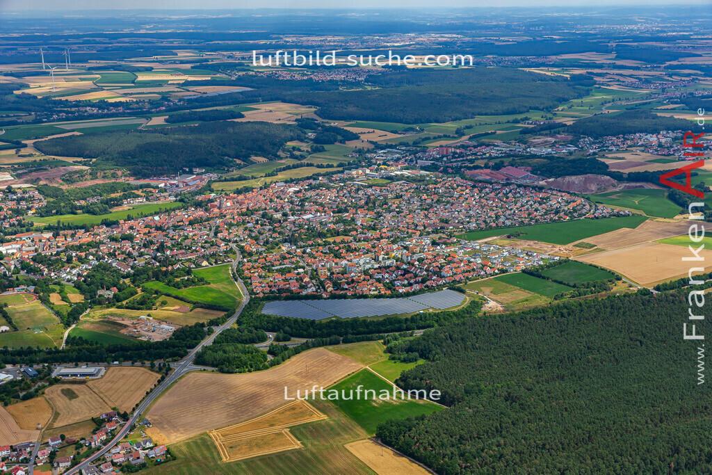 langenzenn-19-161   aktuelles Luftbild von  Langenzenn - Luftaufnahme wurde 2019 von https://frankenair.de mittels Flugzeug (keine Drohne) erstellt.
