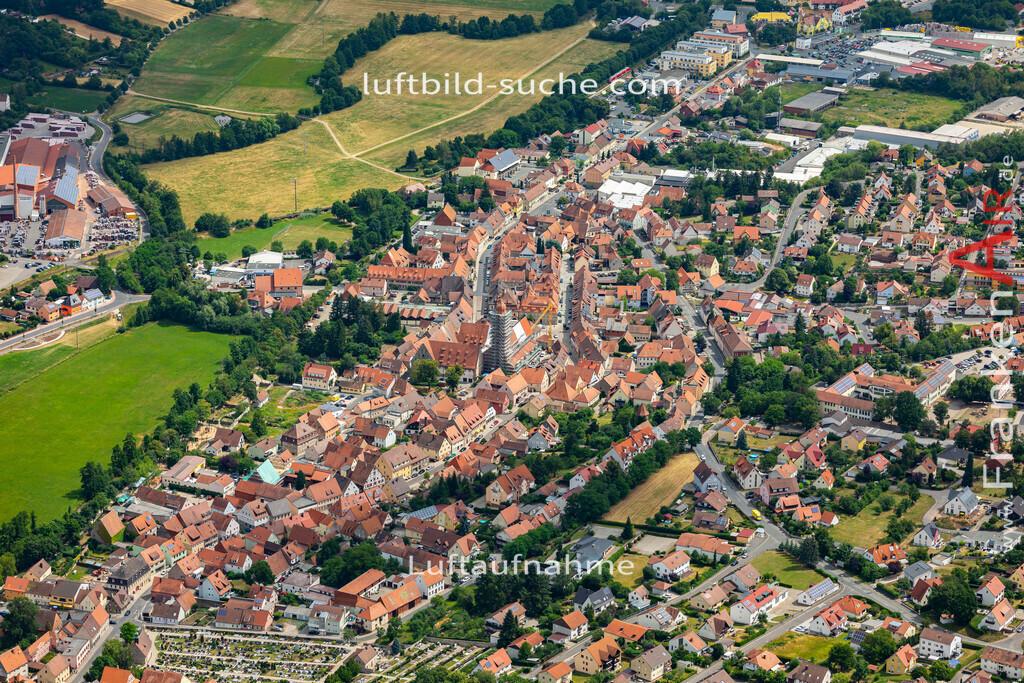 langenzenn-19-165   aktuelles Luftbild von  Langenzenn - Luftaufnahme wurde 2019 von https://frankenair.de mittels Flugzeug (keine Drohne) erstellt.